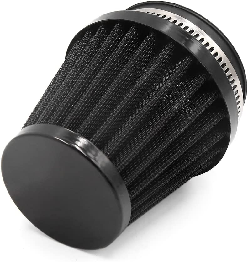 Sourcingmap 54mm Inlet Dia Motorcycle Air Intake Filter with Adjustable Clamp