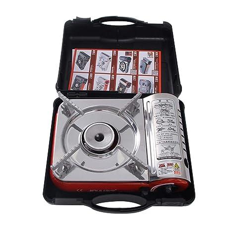 Rlorie Portable Hornillo Acampada,Estufa de Gas portátil del Mini Combustible, ignición automática de