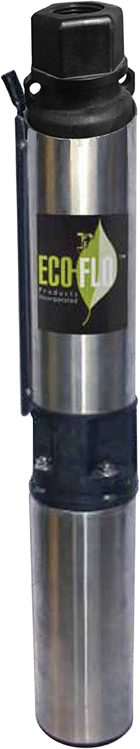 ECO-FLO Products EFSUB7-123 Submersible Deep Water Well Pump, 3 Wire, 230v, 4 Inch, 3/4 HP, 12 GPM