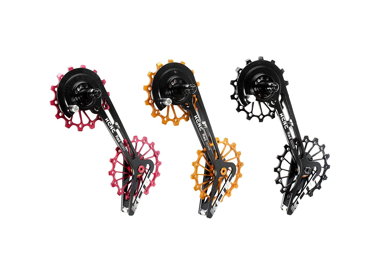 KCNC ロード自転車 自転車 オーバーサイズ ディレイラープーリーシステムケージ スラムレッド/フォース/ライバル用   B07GV36Z7T