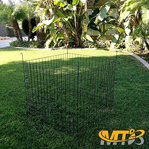 MTB Garden Wire Compost Bin 36'' L x36 W x 30'' H, Green