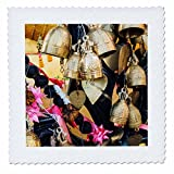 3dRose Danita Delimont - Objects - Thailand, Phuket Island, Bells of Faith at Phuket Big Buddha - 14x14 inch quilt square (qs_276969_5)