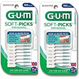 HEALTHY GUMS, HEALTHY LIFE Soft-Picks, 2 Convenient Travel Cases, 200 Soft Picks