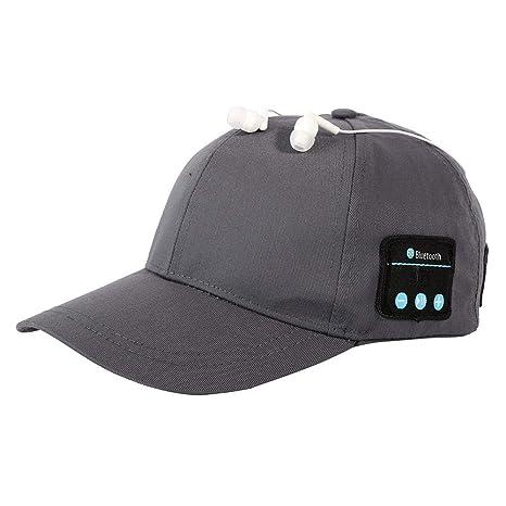 LETAMG Bluetooth Hat Inalámbrico Deporte Bluetooth Música Sombrero ...
