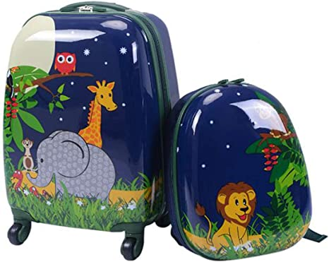 eBook Travel Kids Luggage Set Backpack ABS Trolley Suitcase School Travel 2Pc 12 16