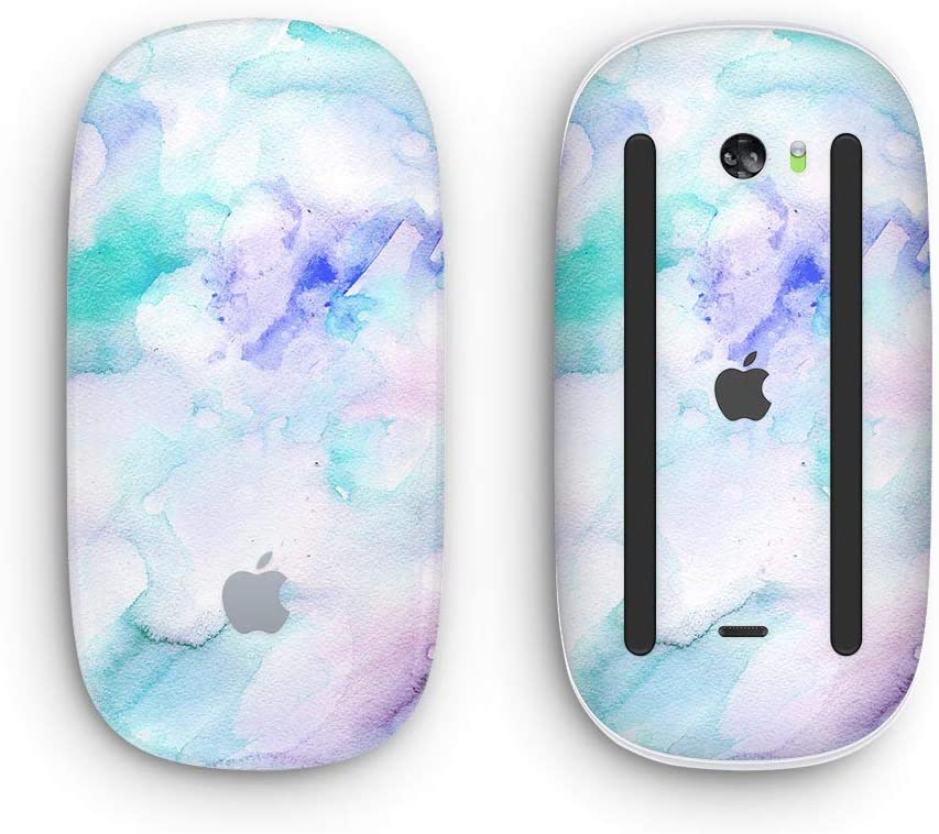 Design Skinz Premium Vinyl Decal for The Apple Magic Mouse 2 Wireless, Rechargable Mint 9 Absorbed Watercolor Texture with Multi-Touch Surface