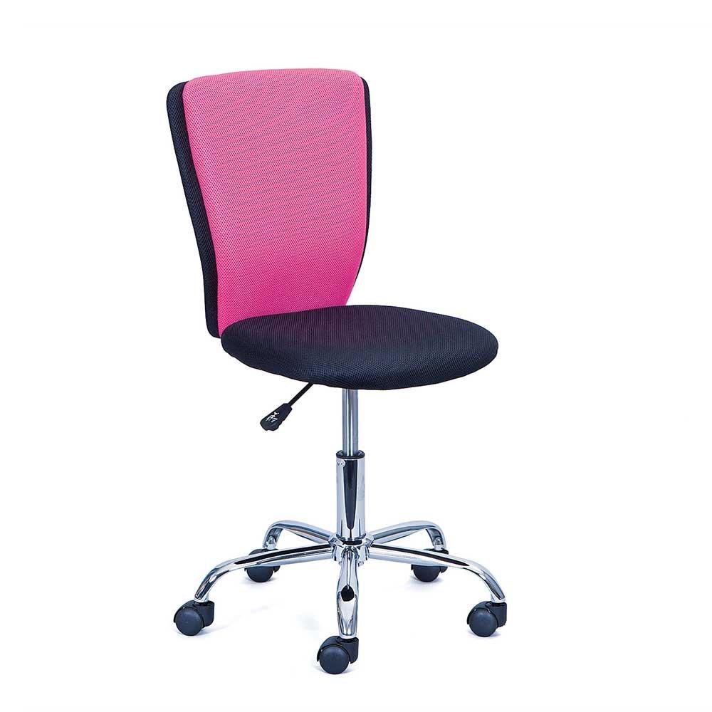 Pharao24 Kinder Schreibtischstuhl in Pink Schwarz