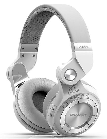 a76e9fb2f75 Bluedio T2S (Turbine 2 Shooting Brake) audífonos Diadema Bluetooth,Plegables  (Blanco)