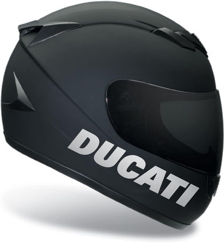 2 X DUCATI Black sticker.