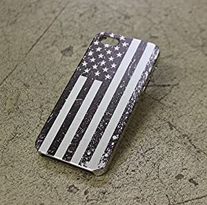 Brushed Aluminum Case for iPhone 5/5S - American USA Flag
