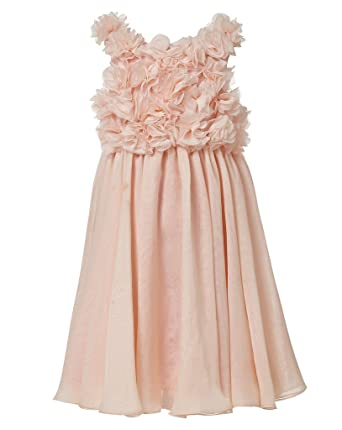 20711fad225 princhar Girl s Flower Girl Dress Kids Toddler Formal Wedding Party Dresses  US 2T Blush Pink