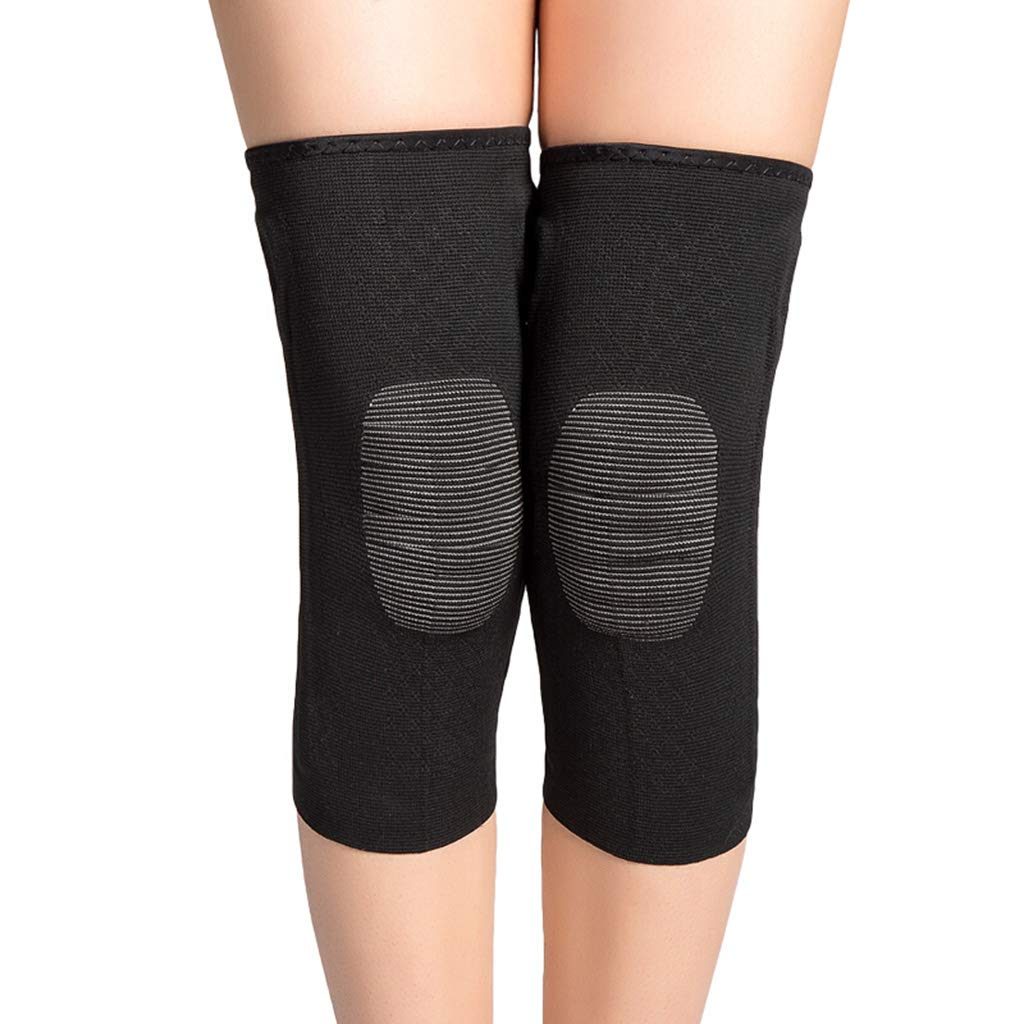 Small Men's and Women's Sports Predection Warm Knee Pads Outdoor Basketball Running Spring Support Predective Gear L Weight 68-90kg QJ (Size   S)