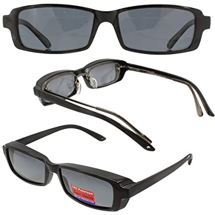 Slim Jim Mini - These fit over most prescription eyewear -Sunglasses Grey Polarized Lenses