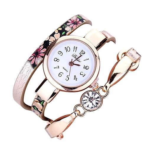 DEESEE(TM) - Reloj de pulsera para mujer, correa de piel ...
