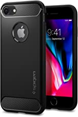 Coque iPhone 7, Spigen® [Rugged Armor] Resilient [Noir] Ultimate protection from drops and impacts Coque Pour iPhone 7 (2016) - (042CS20441)
