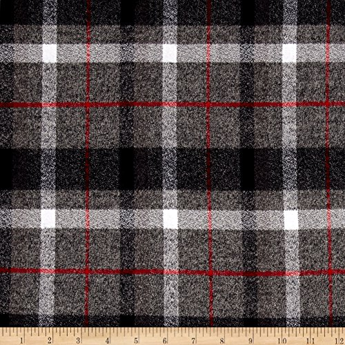 Robert Kaufman Kaufman Mammoth Flannel Plaids Smoke Fabric By The Yard (Fabric Plaid Flannel Red)