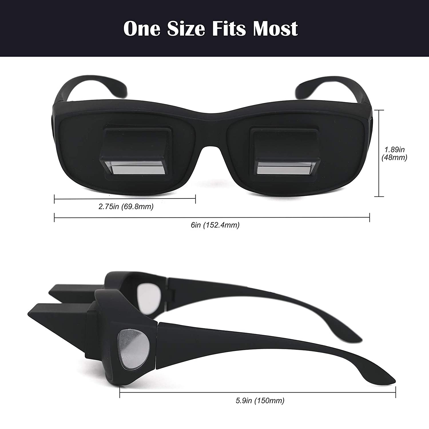 d67cf72f029 Amazon.com  Flammi Bed Prism Glasses Horizontal Glasses Lazy Spectacles Lie  Down for Reading Watching TV  Health   Personal Care