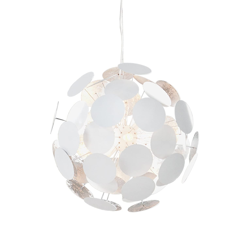 Design Hängeleuchte Hängeleuchte Hängeleuchte INFINITY weiss silber Pendelleuchte Lampe Beleuchtung c41288