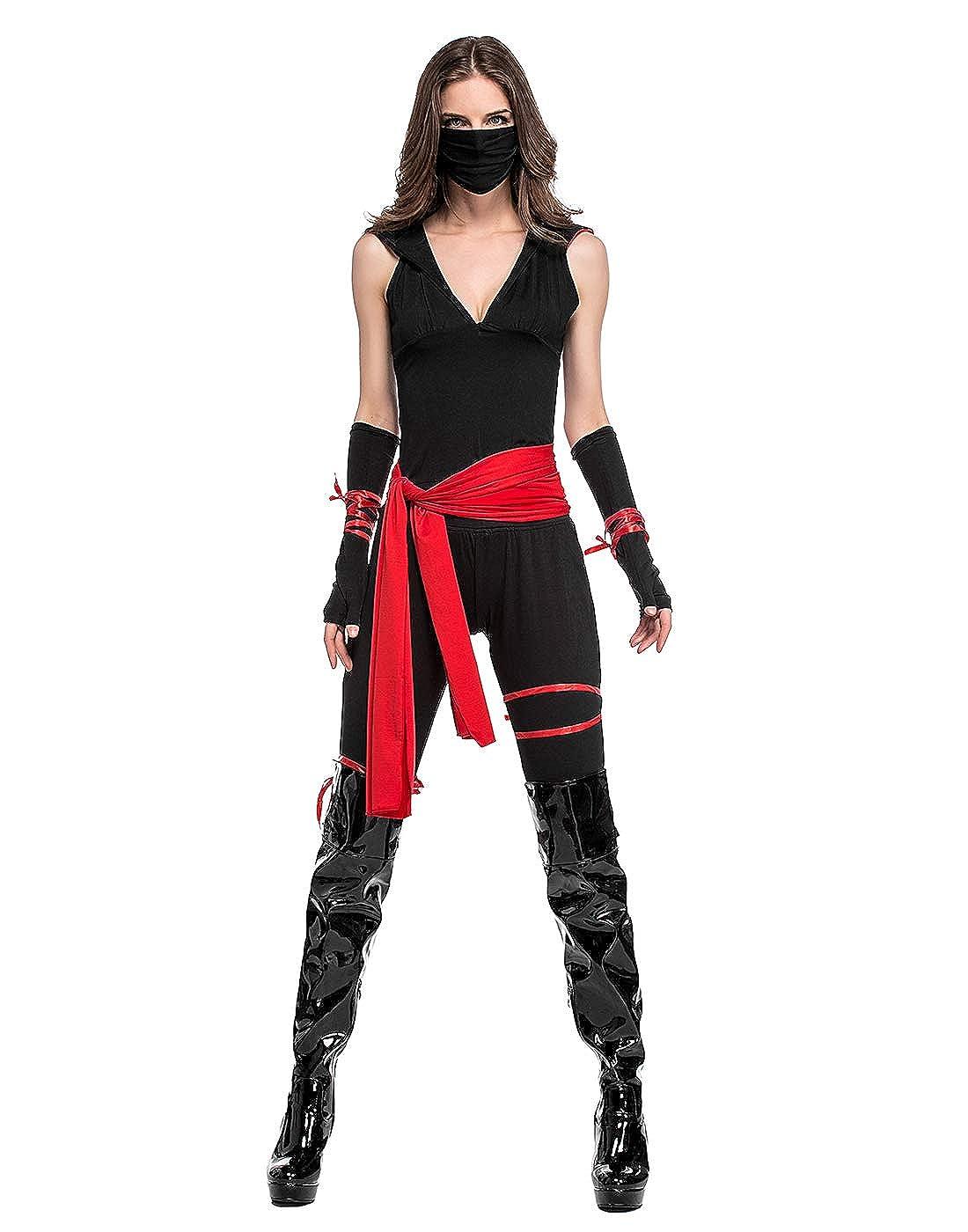 Amazon.com: HDE - Disfraz de mujer Ninja Halloween, para ...