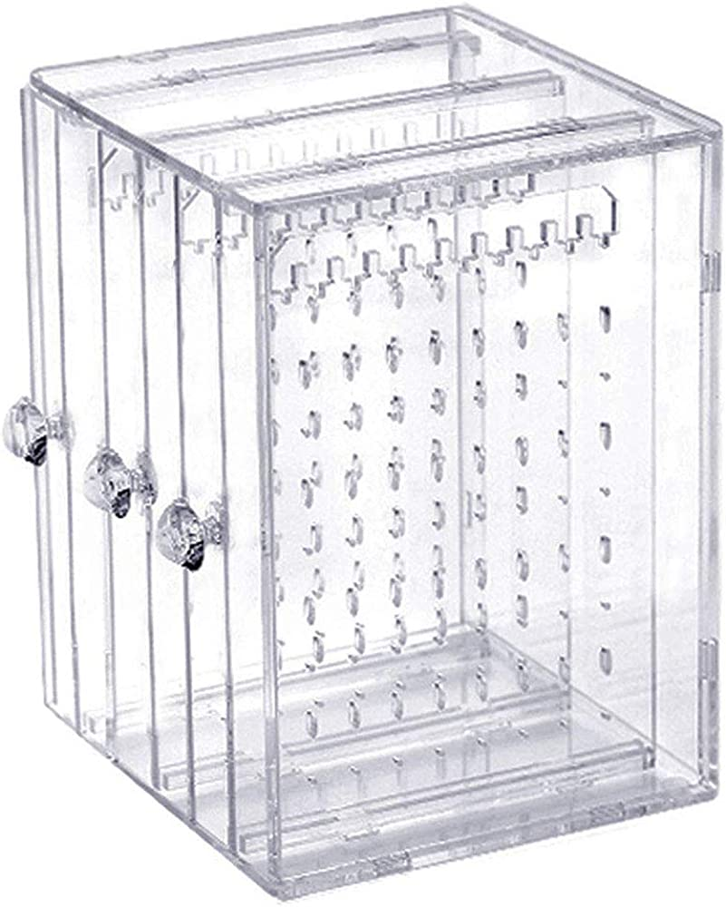 Plegable Acrílico Soporte de la Joyería, Sostenedor Del Pendiente - 3 Drawers, Caja de Pendientes 216 Agujeros Caja de Almacenamiento de Joyería de Acrilico Transparente Caja Organizador de Joyas