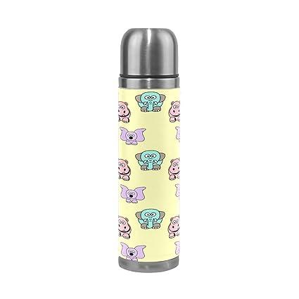Amazon.com: hulahula arte huella botella de agua térmica de ...