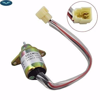 jahyshow 1503es-12s5suc5s Válvula de solenoide 12 V combustible ...
