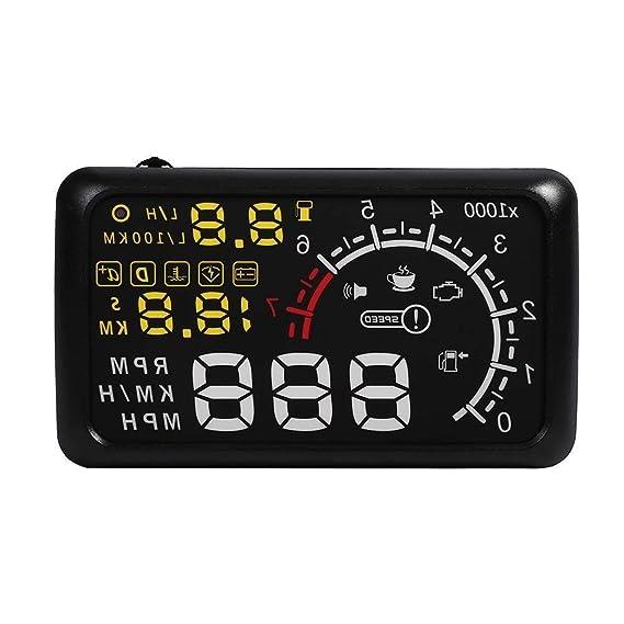 Anzeige Auto Head Up Display HUD Kopf Hohe Anzeige OBD2 OBDII Geschwindigkeit, Level Kraftstoff, Konto Tour 14.8 * 8,5 (1 ink