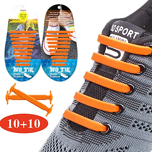 86d520b660208 EZIGO 10+10 No Tie Shoelaces Upgraded Elastic Shoelaces for Adults ...