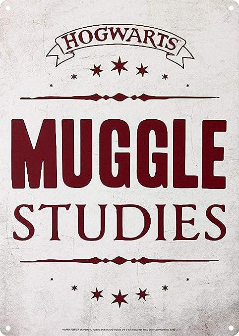 RABEAN Hogwarts Muggle Studies Cartel de Chapa Póster de ...