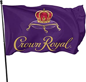 Keyvic Crown Royal Left Garden Outdoor Decor Flag 3' X 5' Ft Durable & Fade Resistant Banner in House Yard