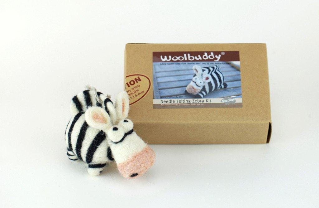 Woolbuddy Needle Felting Zebra Kit