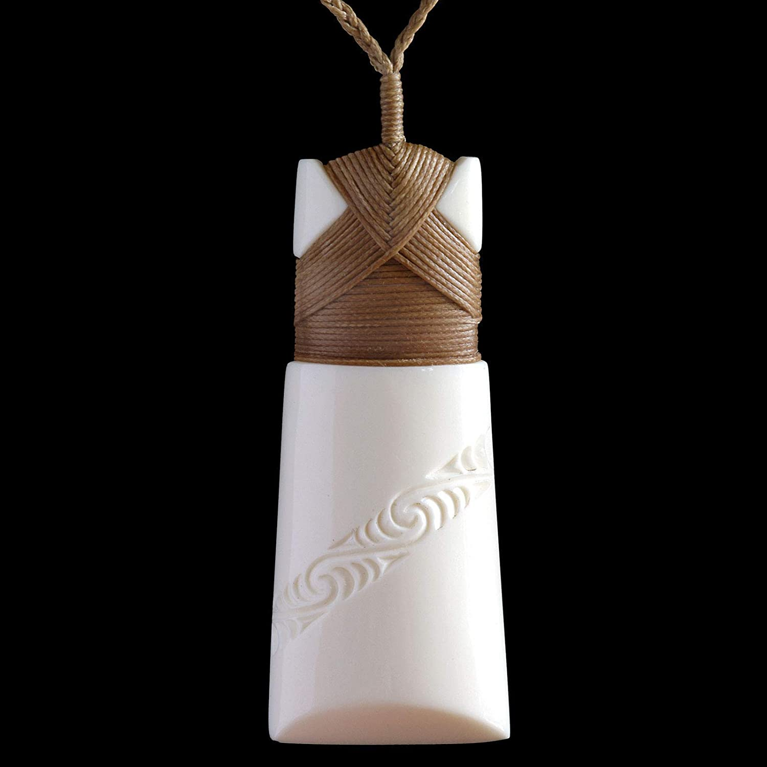 Amazon Com Hand Carved Maori Toki Bone Carving Pendant From New Zealand Handmade