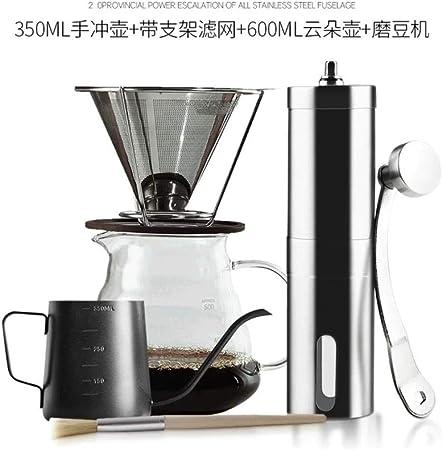 HPPL304 Filtros de café de Acero Inoxidable con Soporte de Cono Taza de Filtro de Goteo de café Estilo V60 Juego de Soporte de Papel de Goteo doméstico, Juego de café: Amazon.es:
