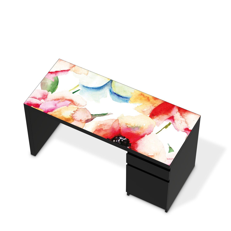 Bedruckte Klebe-Papel de aluminio para IKEA malm mesa escritorio ...