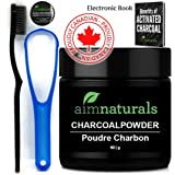 Best Natural Teeth Whitening Activated Charcoal Powder In Bulk (50g)+ FREE High Density Toothbrush + Tongue Cleaner + Benefits of Activated Charcoal eBook Value Pack | Premium Raw 100% Pure Natural Organic Coconut Charcoal Powder LARGE| 100% Pure Food Grade, No Artificial Flavors or Hardwood Used - Better Alternative Than Bleach Brighten, Teeth Whitening Strips, Kits and Toothpaste