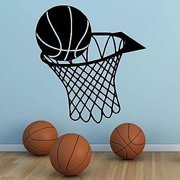 zqyjhkou Etiqueta de Arte de Pared Baloncesto Deportes s ...