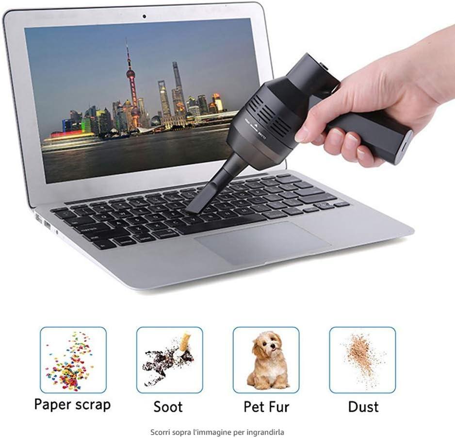 Cokeymove - Limpiador para aspiradoras, teclado portátil, soplador para polvo, recargable por USB, inalámbrico, mini aspirador para coche de cocina doméstica: Amazon.es: Hogar