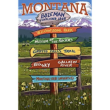 Amazon Com Bozeman Montana Destination Signpost 12x18