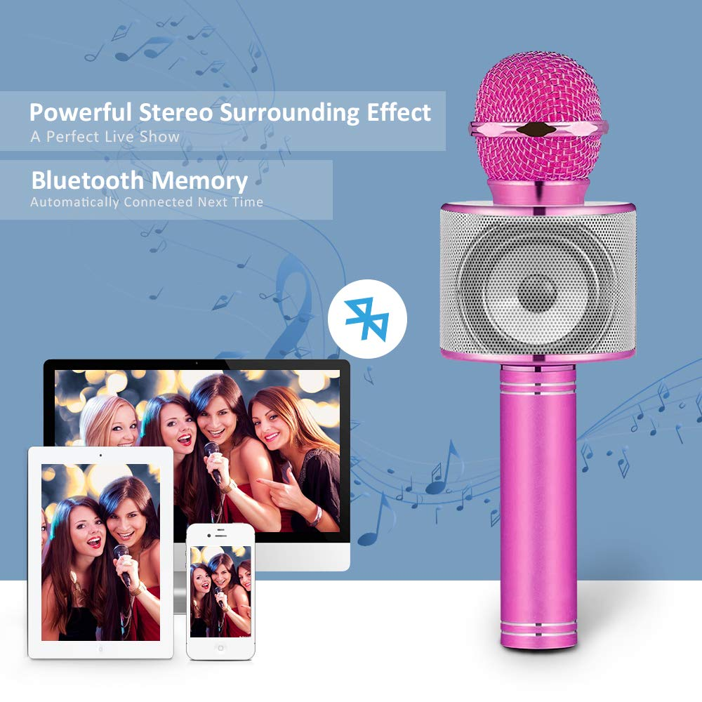 Dreamingbox Kids Microphone, Fun Toys for 5-12 Year Old Girls Boys Wireless Portable Karaoke Microphone for Kids Cool Mic Birthday Gifts for 5-12 Year Old Girls Boys (Purple) DDMKF03 by Dreamingbox (Image #3)