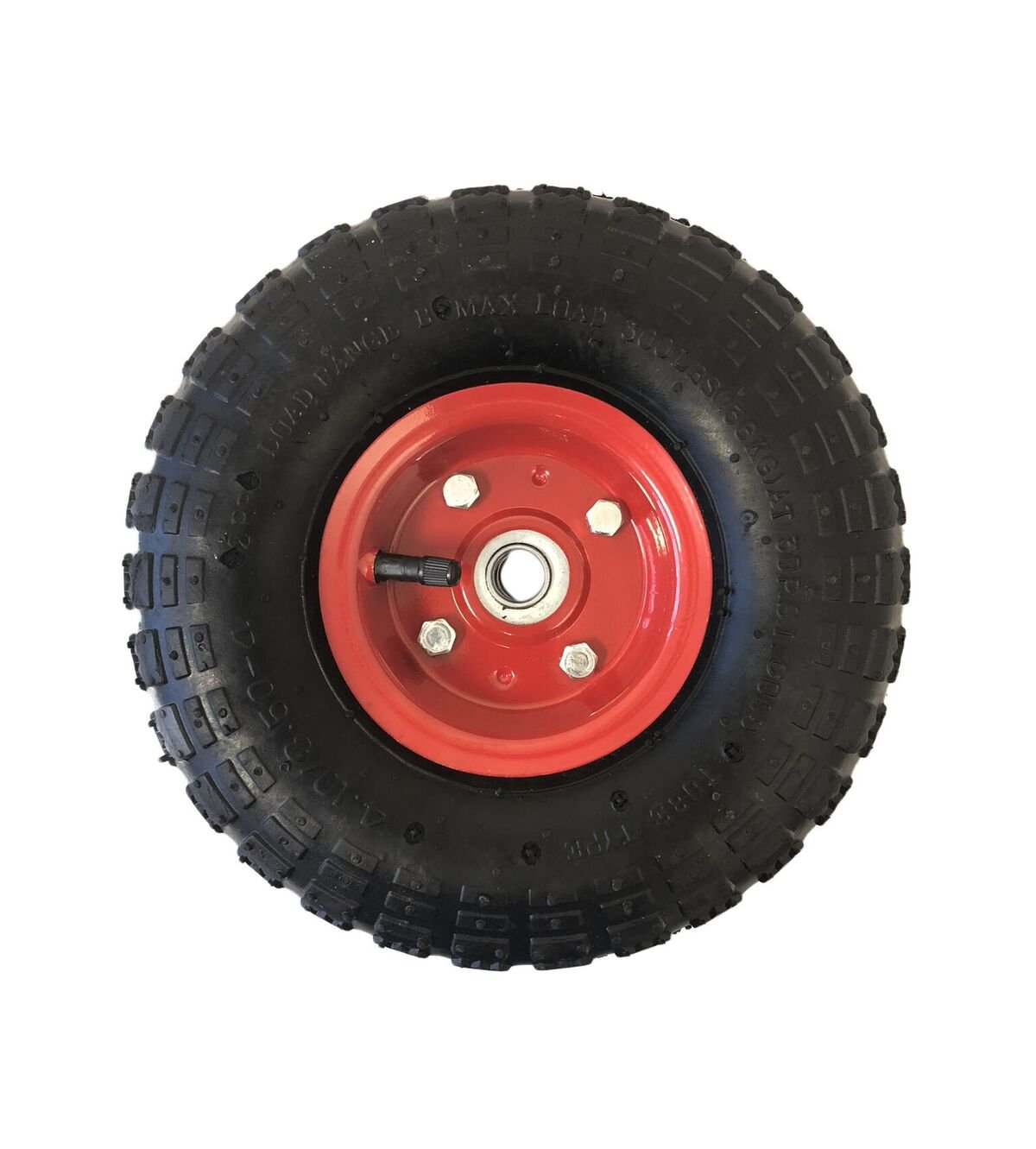 Hand Truck Air Tire Replacement Wheel Dolly Wheel 4.10/3.50-4 (RED)