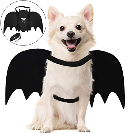Disfraz de Gato de Halloween, murciélago de Gato con Campana de Calabaza, Disfraces de Perro, Ropa de Mascota de Halloween, para Cachorro, Gato, ...