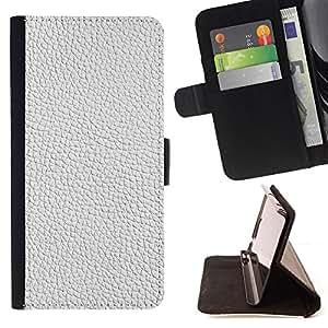 BullDog Case - FOR/Apple Iphone 5 / 5S / - / white texture textile interior design pattern /- Monedero de cuero de la PU Llevar cubierta de la caja con el ID Credit Card Slots Flip funda de cuer