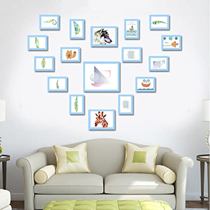 Amazon Com Photo Wall Zyanz Living Room Picture Frame Combination