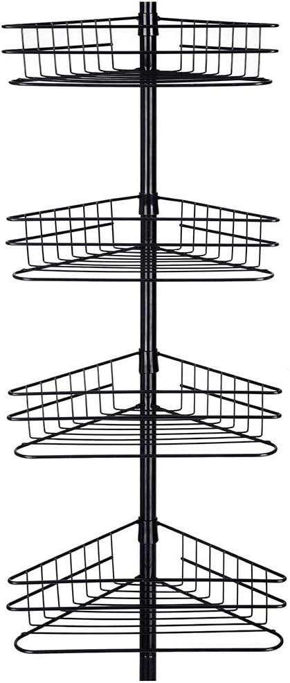 4-Tier Bathroom Stand Basket Telescopic Shelf Rack Bath Shower Storage Organizer