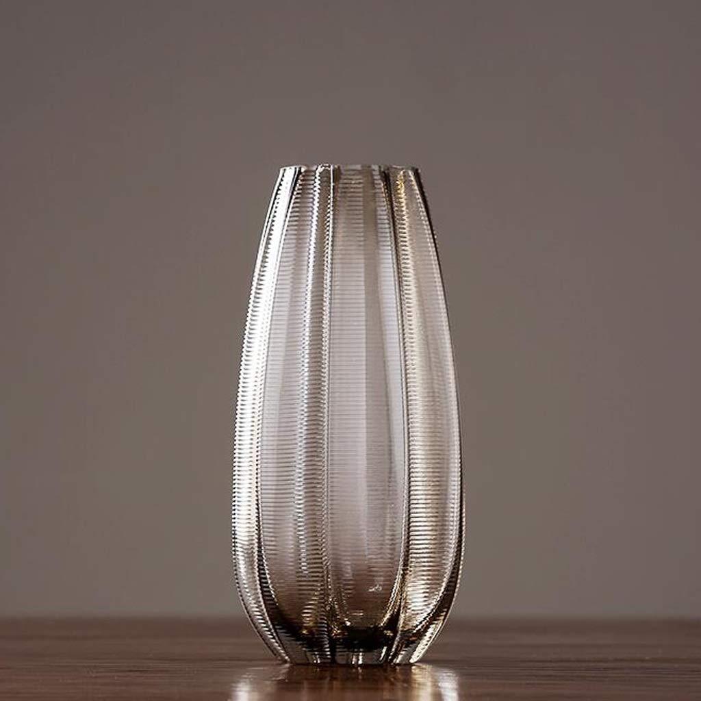 HBJP 植物の水耕栽培に適したガラス花瓶、緑色植物装飾花瓶、ドライフラワー花瓶、 花瓶 (サイズ さいず : 9×15×35cm) B07SDPPFNY  9×15×35cm