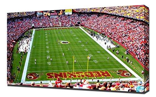 Lilarama USA Washington Redskins Fedex Field Stadium 3 - Canvas Art Print - Wall Art - Canvas Wrap (Field Washington Usa Framed)
