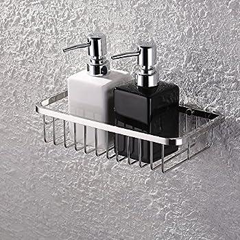Amazing KES Shower Shelf, Bathroom Shelf (10 Inch Rectangular Polished) Shower  Organize Basket Contemporary