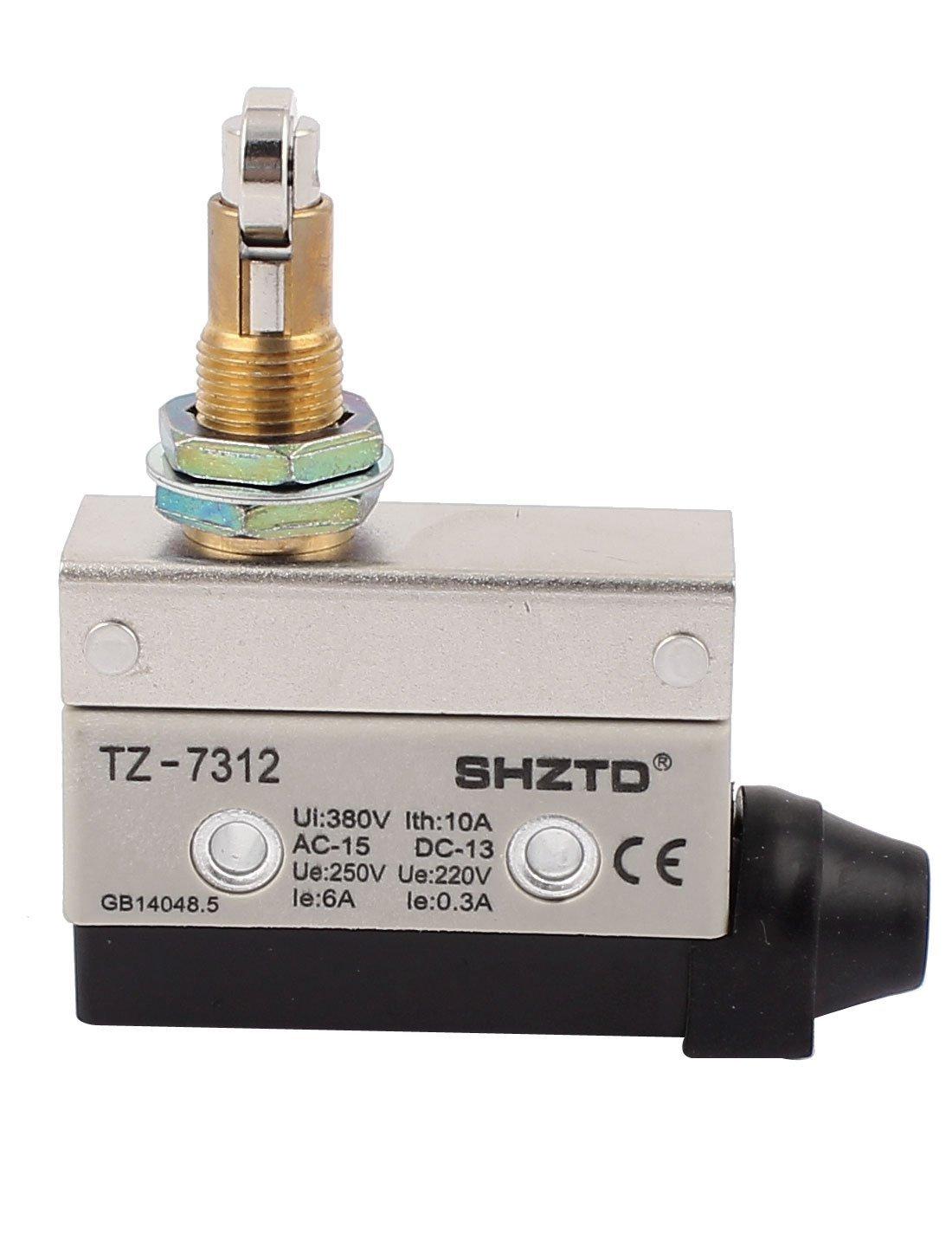 DealMux AC 380V 10A SPDT 1NO+1NC Snap Action Roller Plunger Limit Switch