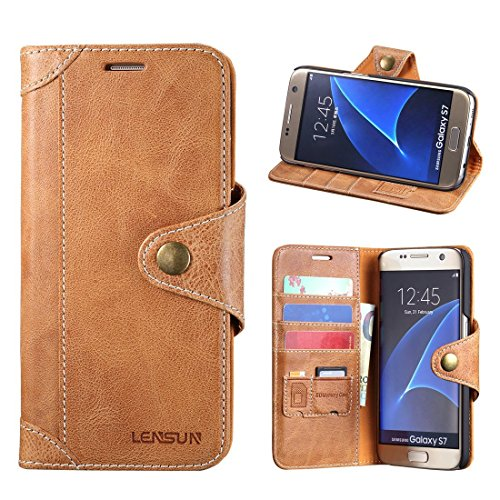 LENSUN Genuine Leather Magnetic Samsung