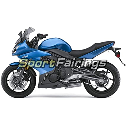 Sportfairings Plastic ABS Fairing kits For Kawasaki Ninja 650R ER-6F Year 2009-2011 09 10 11 Gloss Blue Motorbike Bodywork